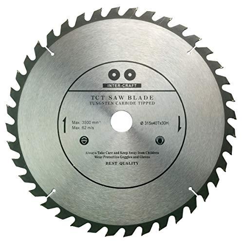 Inter-Tech Craft 315mm Hoja de sierra Top calidad Sierra circular para madera 315x 30-25mm 40Dientes