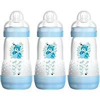 MAM Easy Start Self Sterilising Anti-Colic Bottle, Medium Flow 2 Months +, Assorted Models - 260 ml (Pack of 3)