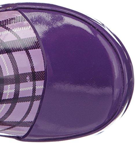 Playshoes Karo aus Naturkautschuk mit Reflektor 188651 Jungen Gummistiefel Violett (flieder 10)