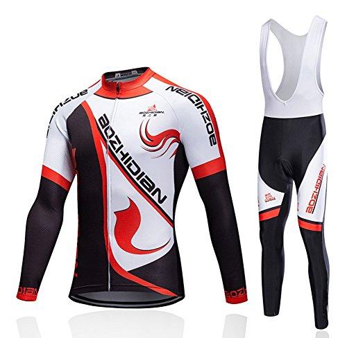 Huwai Radtrikot Männlich Frau Sonnenschutz Lange Ärmel Weste Pad Hose Motorradbekleidung Fahrradkleidung Kleidung im Freien, Black, XXL