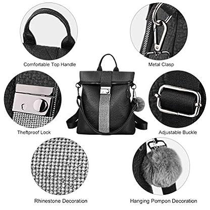 511QsMd4pCL. SS416  - VBIGER Bolsos mochila mujer Antirrobo Mochila de Cuero PU Mano Mochilas Casual Bolsa Bandolera Messenger Bag Backpack