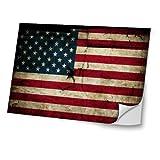 Flagge USA 4, Weltkarte, Skin-Aufkleber Folie Sticker Laptop Vinyl Designfolie Decal mit Ledernachbildung Laminat und Farbig Design für Laptop 17