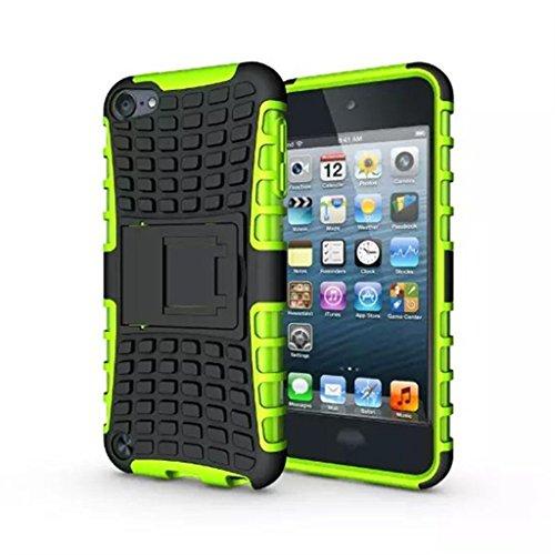 iPod Touch 5 Hülle,iPod Touch 6 Hülle, LUOLNH (TPU Series) Silikon Stoßfest Touch 6 Schutzhülle Ständer Armor Drop Resistance Schutz Hülle für Apple iPod Touch 5G 6G (Grün) (Ipod Touch 4 Case Ständer)