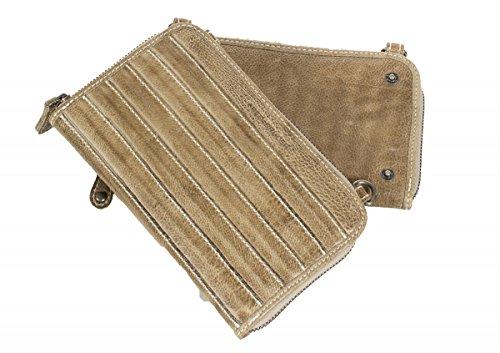 FREDsBRUDER sac 'Allrounder 2' messager en cuir de vachette ciré (19,5 x 12 x 4 cm) beige