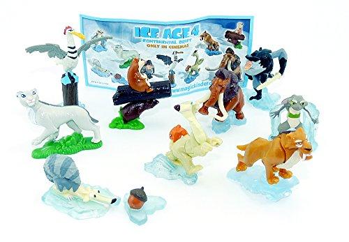 Kinder Überraschung, Ice Age 4 Komplettsatz Voll verschoben mit Einem BPZ (Satz)