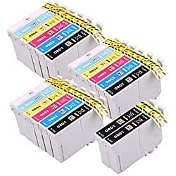 20Cartouches d'Encre Compatibles pour Epson Stylus Photo R265R285R360RX560RX585RX685P50PX650PX660