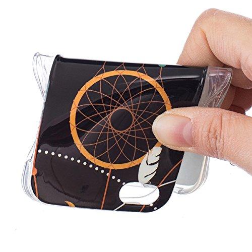 iPhone 5S Hülle, iPhone SE Hülle, Gift_Source [ Pfirsich Blume ] Hülle Case Transparent Weiche Silikon Schutzhülle Handyhülle Schutzhülle Durchsichtig TPU Crystal Clear Case Backcover Bumper Case für  E1-Federwindklangspiele