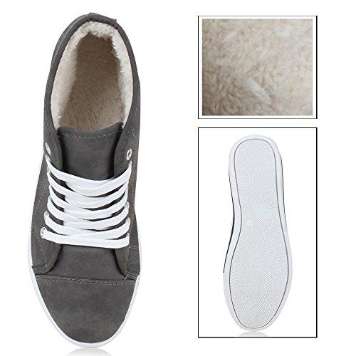 Herren Schuhe Sneakers Turnschuhe High Top Grau