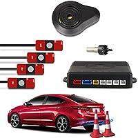 CAR ROVER® Sensor Aparcamiento Kit 4 13mm Sensor Marcha Atras con Zumbador Bibi Alarma de Sonido (Plata)
