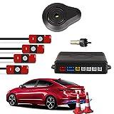 Car Rover® Auto Einparkhilfe Rückwärtseinparken Auto Rückfahrradar Rückradar Radar mit 4 13 mm Original Sensoren und Summer in silber
