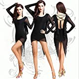 CO&CO Lady Latin Dance Skirt Adulte Dance Practice Performance Dress (One Size)