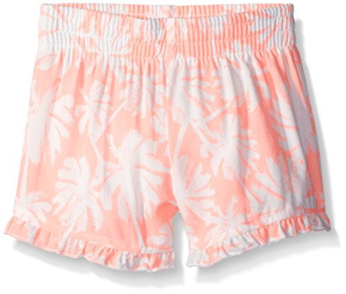kensie-little-girls-printed-rayon-short-with-pom-trim-neon-light-coral-4