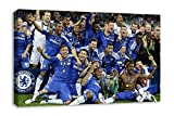 "Chelsea FC UEFA Champions League Winners 2012 Canvas Wall Art (30X18"")"
