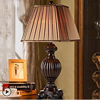 0102 Table lamp China American bedroom European bedroom bedside study living room lamps (Color : A, Size : 73cm)