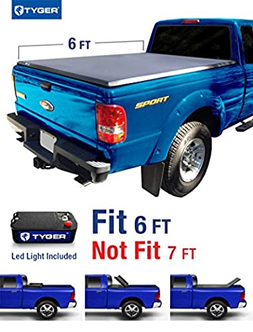 Tyger Auto TG-BC3F1022 Tri-Fold Pickup Tonneau Cover (Fits 82-13 Ford Ranger (NOT Splash/Flareside); 94-11 Mazda Pickup 6 feet (72 inch)) by Tyger Auto
