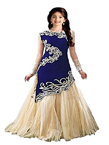 White-World-Girls-Velvet-Net-Lehenga-Choli-baby-zoyaBlueFree-Size