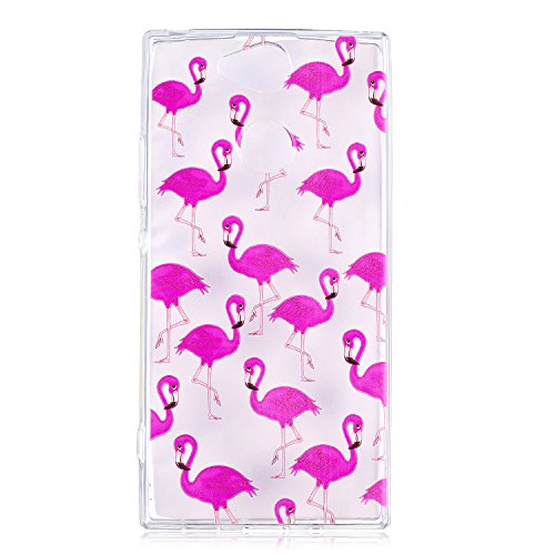 Cozy Hut Sony Xperia XA2 Ultra Hülle Case, Kratzfeste Plating TPU Silicone Case Schutzhülle Ultra Dünn Tasche für mit Sony Xperia XA2 Ultra Hülle Case Transparent - Flamingos