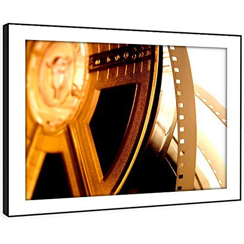 BFAB422d gerahmtes Bild Druck Wandkunst - alte Vintage Filmrolle moderne abstrakte Landschaft Wohnzimmer Schlafzimmer Stück Wohnkultur einfach hängen Führung (72x51cm) (Vintage Filmrolle)