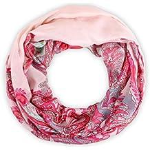 Sciarpa a tubo circolare, foulard da donna leggero e morbido estate primavera autunno inverno loop anello ragazze colorati stola accessorio moderno lifestyle, SCH-606.624:SCH-606e rosa