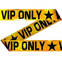 Amakando Warning tape V.I.P. VIP only barrier tape 15 m barrier tape theme party Hollywood decorative room accessory celebrity decoration accessories