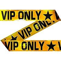 Jouet NET TOYS Rubalise VIP VIP VIP Only 15 m Ruban de signalisation décoratif Bande pour fête Sangle de délimitation Banderole de Chantier Bande de Barrage Décoration fête VIP 2e9763