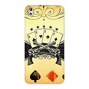Guns And Cards Back Case Cover for HTC Desire 816s