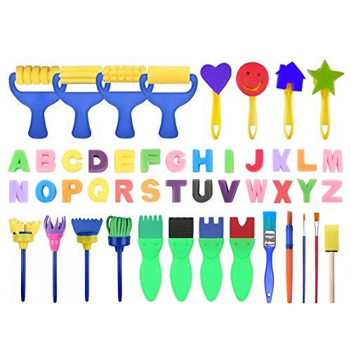 Mitlfuny Kawaii Langsam Dekompression Creme Duftenden Groß Squishy Spielzeug Squeeze Spielzeug,Kinder Kunst & Handwerk 47 Stück Schwammmalpinsel Kinder-Malbausätze Early DIY (Wars Kostüme Einfache Diy-star)