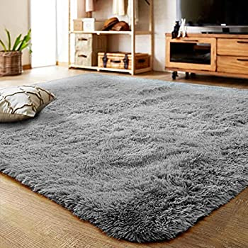 Txyk Ultra Soft Indoor Modern Area Rugs Fluffy Living Room Carpets Suitable for Children Bedroom Home Decor Nursery Rugs