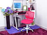 Aingoo Home Office Task Chair Mid Back Adjustable Computer Desk Chairs for Children Kids Study, Pink
