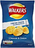 Walkers Cheese and Onion Flavour Crisps 32.5 g (Pack of 32)