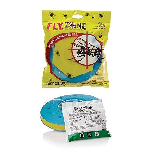 INSECTIVE Fly-trap Flyzone XL – Fliegenfalle für den Außenbereich fängt hunderte von Arten wie Stubenfliegen, Schmeißfliegen, Fruchtfliegen, Pferdebremse und viele mehr (Tote Weiß-streifen)