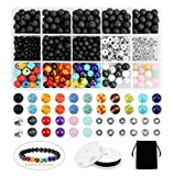 Lava Beads SOLED 526PCS Lava Bead Set Rock Stone, Chakra Beads,...