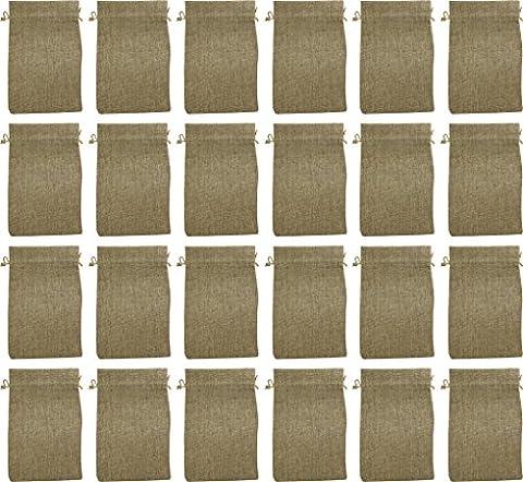 24 Jute-Säckchen fein, naturbraun, 20 x 12