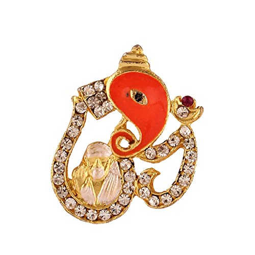 I Jewels Traditional Gold Plated Sai baba, Ganpati and Om pendant for Men & Women C003  available at amazon for Rs.149