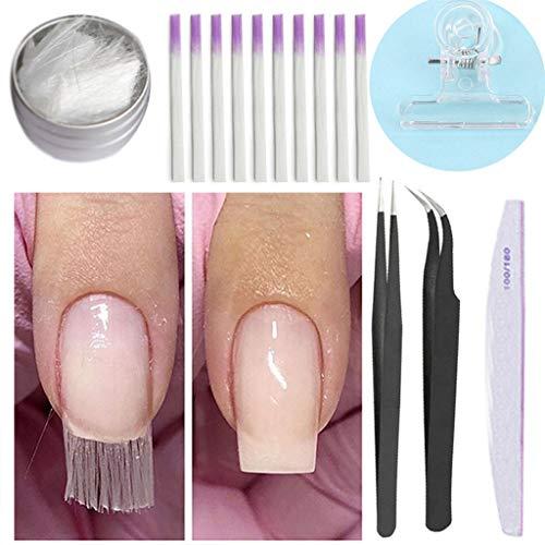 ZzZz Fibra di vetro in fibra acrilica per unghie Salon in fibra di vetro NAIL PER ESTENSIONE (white)