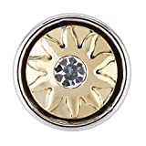 Morella® Damen SMALL Click-Button Druckknopf 12 mm Ø Sonne goldfarben