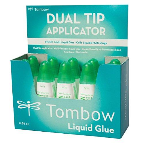 Tombow PT-MTC-10P Flüssigkleber Multi Talent mit zwei Spitzen, 10er-Pack (Kleber Punkt-linien)