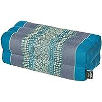 Preisvergleich für Thaikissen Meditationskissen Nackenkissen 35x15x10 blau Kissen mit Füllung aus Kapok Yogakissen