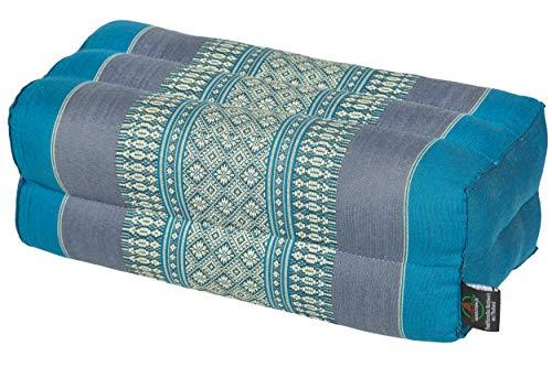 Handelsturm Cuscino da 35 x 15 x 10 cm con imbottitura in Kapok, perfetto per fare meditazione, yoga e rilassarsi Azzurro
