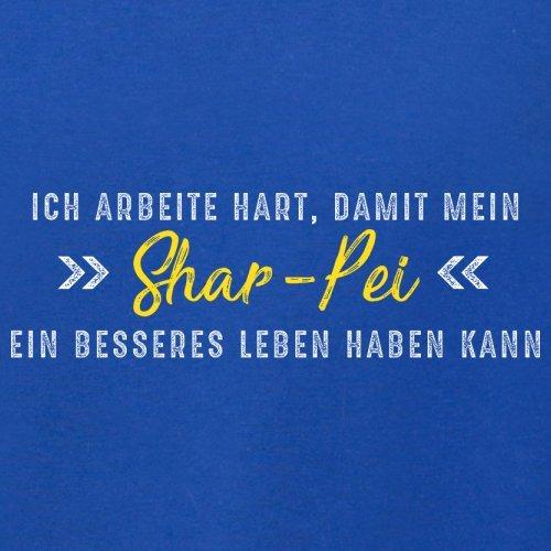 Ich arbeite hart, damit mein Shar-Pei ein besseres Leben haben kann - Herren T-Shirt - 12 Farben Royalblau