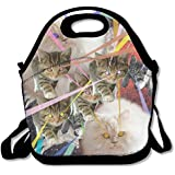 Space Humor Cats Lunch Bag Insulated Lunch Bag For Women Lunch Bag For Kids Cooler Insulated Bags 29H19W14.5L