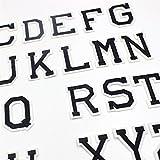 Miniblings 26x Buchstaben Initialen Alphabet ABC Bügelbild Aufbügler Buchstabe