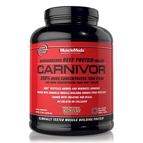 MuscleMeds Carnivor Beef Protein Isolate Chocolate - 4.5lbs (2038g) (Beef Protein)
