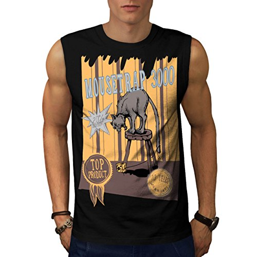 mouse-trap-cat-bait-cheese-lure-men-new-black-s-sleeveless-t-shirt-wellcoda