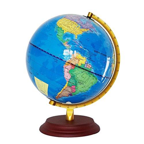 MagiDeal 23cm Metallständer Geographische Weltkugel Weltkarte Globus mit Beleuchtung Kinder Lernspielzeug - Blau