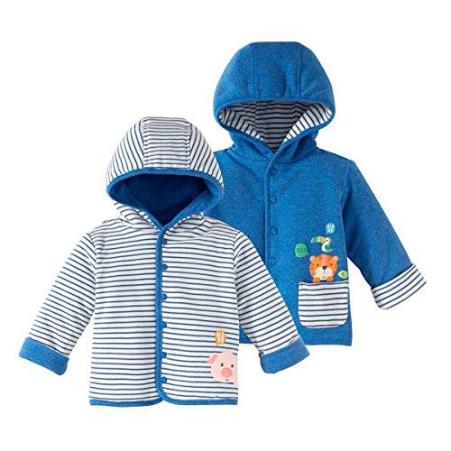 BORNINO Wendejacke gefüttert Baby-Jacke Babykleidung, Größe 74/80, blau