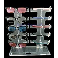 Acrylic counter sunglasses glasses retail display stand for 10 pairs(G204)