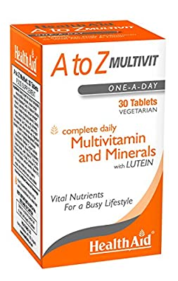 HealthAid A to Z Multivit - 90 Vegetarian Tablets from HealthAid