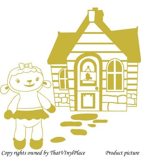 Assemblea e lampada a parete Sticker 60cm x 60cm colore oro metallico Disney, medico, Camera da letto, stanza dei bambini Adesivi, vinile auto, Windows e adesivo parete, Windows Art, decalcomanie, Ornamento vinile ThatVinylPlace