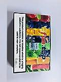 E Líquido, E Cigarrillo Vape Líquido 5 * 10ML (Manzana + Arándano + Mango + Uva + Menta Helada) 70VG / 30PG Vapor Líquido Saborizante de Vapor E Líquidos para Cigarrillo E Sin Nicotina (Verde)
